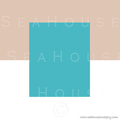WM EXCLUSIVE USE Background Turquoise White and Sand Square Size