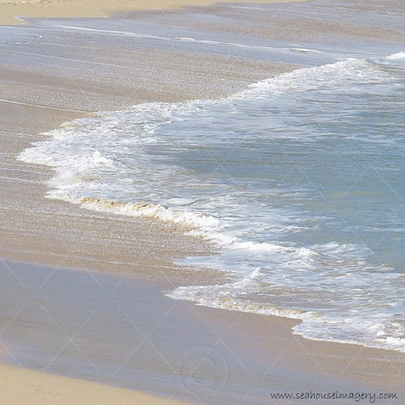 Beach Sandy Sea Shore Faded Background 2415 Square Size