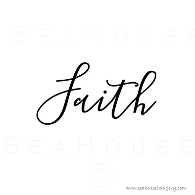 EXCLUSIVE USE Faith Black Elegant Text Square Size