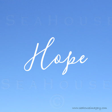 EXCLUSIVE USE Hope Blue White Elegant Text Square Size