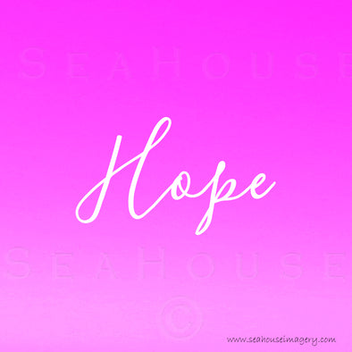 EXCLUSIVE USE Hope Pink White Elegant Text Square Size