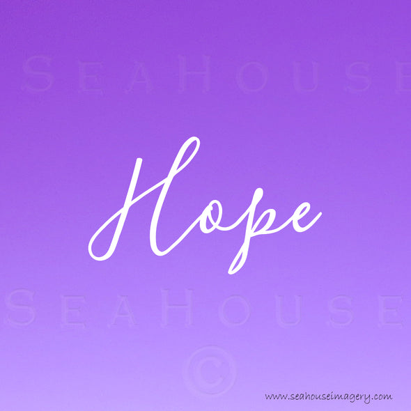 EXCLUSIVE USE Hope Purple White Elegant Text Square Size