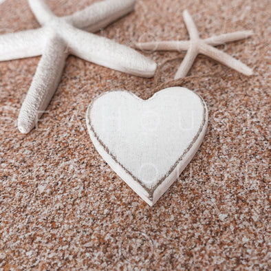WM On Sand Whitewash Heart Two Starfish 2562 Square Size