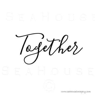EXCLUSIVE USE Together Black Elegant Text Square Size