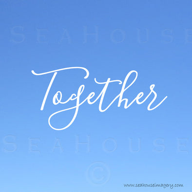 EXCLUSIVE USE Together Blue White Elegant Text Square Size