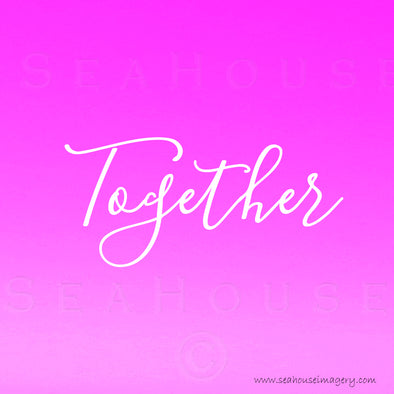 EXCLUSIVE USE Together Pink White Elegant Text Square Size