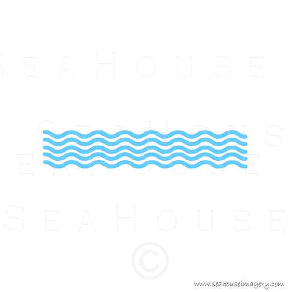 WM EXCLUSIVE USE Wave Pattern Blue Text Square Size