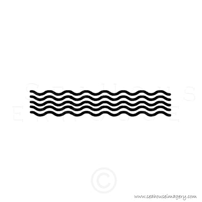 WM EXCLUSIVE USE Wave Pattern Black Text Square Size
