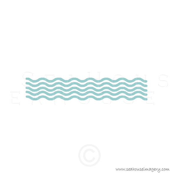 WM EXCLUSIVE USE Wave Pattern Surf Green Text Square Size