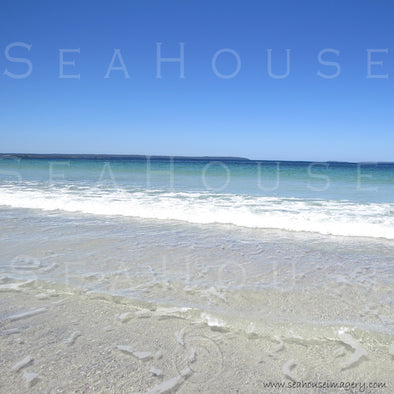 WM EXCLUSIVE USE Beach White Sand Blue Sky 7524 Square Size