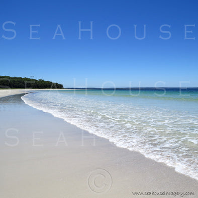 WM EXCLUSIVE USE Beach White Sand Blue Sky 7535 Square Size