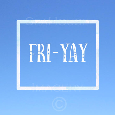 Fri-Yay Blue Square Size
