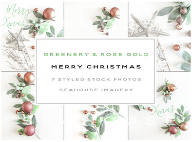 WM Bundle - Merry Christmas Greenery and Rose Gold Main Image Landscape
