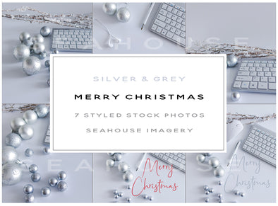 WM Bundle Image Merry Christmas Silver and Grey