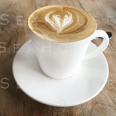 WM EXCLUSIVE USE Coffee Large White Mug and Saucer Latte Love Heart 8403 Square Size