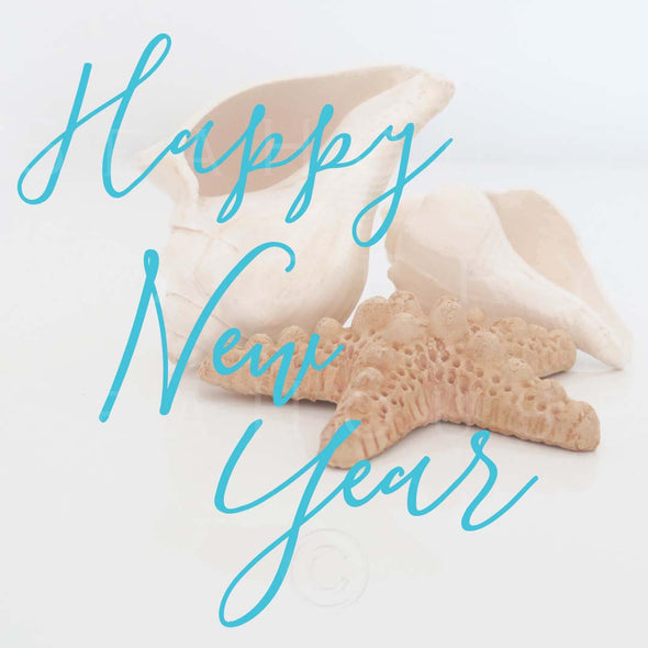 WM Happy New Year Blue Elegant Shells 7905 Square Size