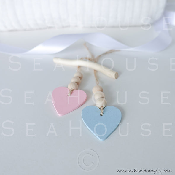 WM Hearts Pink and Blue 2521