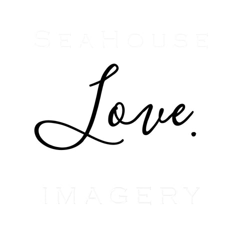 Love Black Elegant Text Square Size