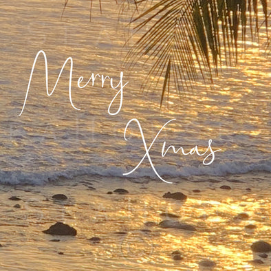 WM Merry Xmas Sunset Rocky Shore White Text 7880 Square Size