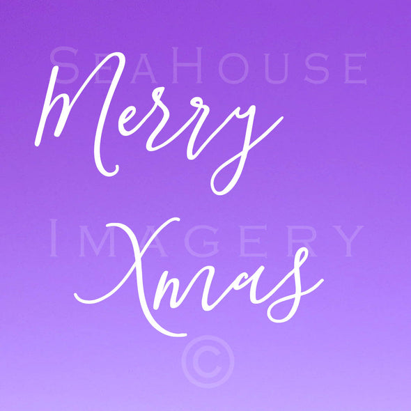 EXCLUSIVE USE WM Merry Xmas White Elegant Purple Square Size