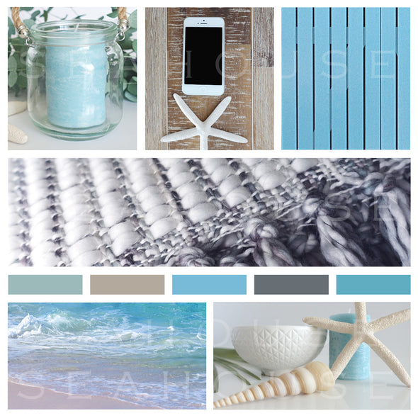 WM EXCLUSIVE USE Mood Board Coastal Autumn Blues Square Size