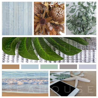 WM Mood Board Coastal Autumn Textures 2 Square Size