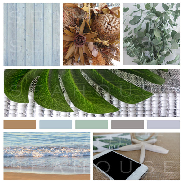 WM EXCLUSIVE USE Mood Board Coastal Autumn Textures 2 Square Size