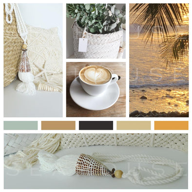 WM Mood Board Coastal BoHo Style Square Size