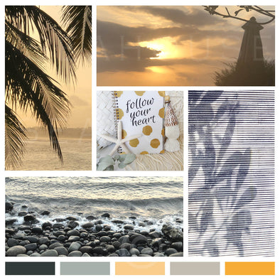 WM Mood Board Coastal BoHo Sunset Square Size