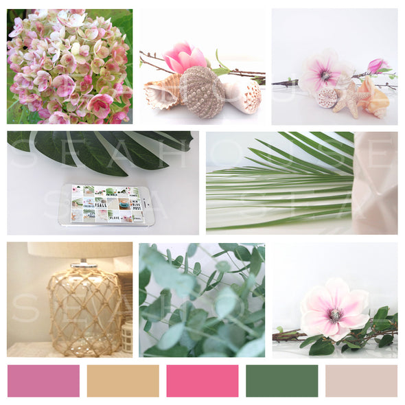 WM Mood Board Coastal Pink 10 Square Size