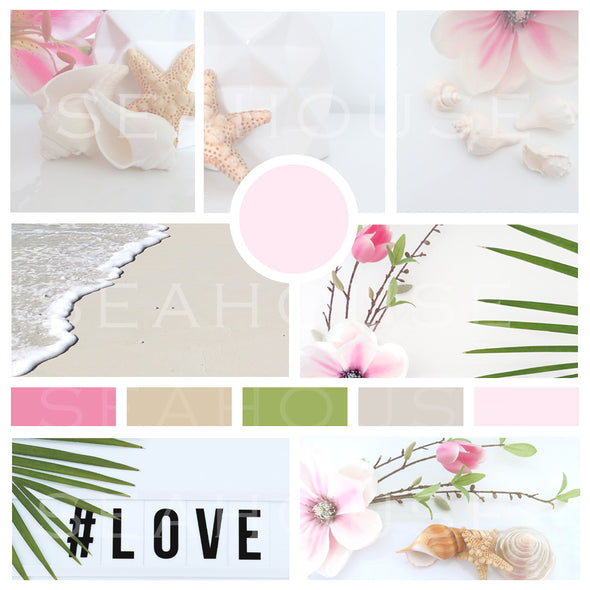 WM Mood Board Coastal Pink 6 Square Size