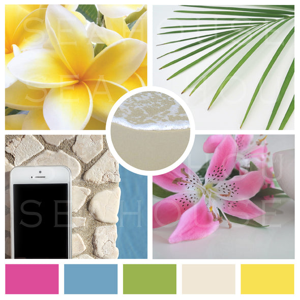 WM EXCLUSIVE USE Mood Board Coastal Tropical 7 Square Size