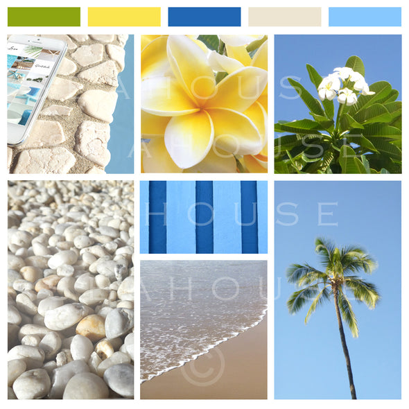 WM EXCLUSIVE USE Mood Board Coastal Tropical 8 Square Size