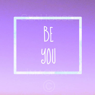 WM Be You Purple Square Size