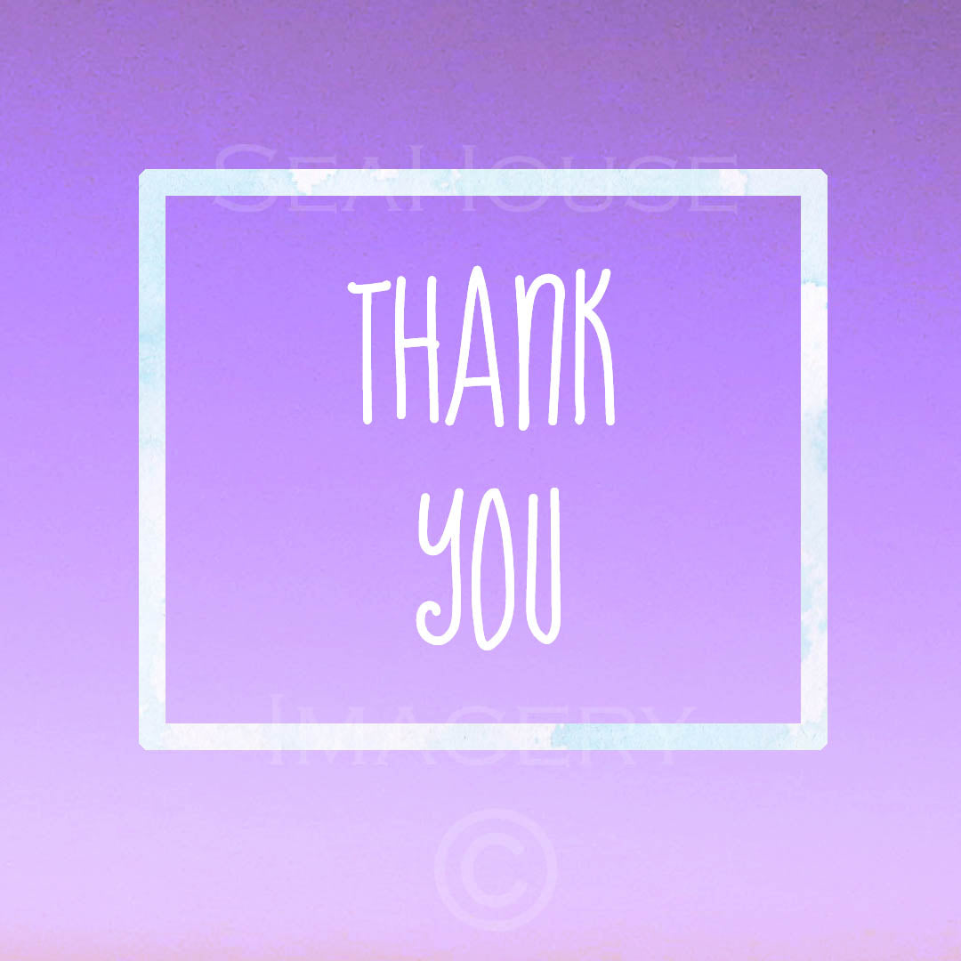 Thank You Purple Square Size Seahouse Imagery