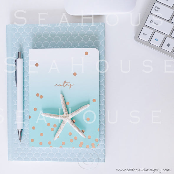 WM Styled Desktop Modern Blue and White 1900 22 Square