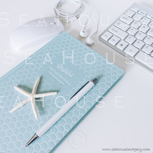 WM Styled Desktop Modern Blue and White Grateful 1882 16 Square