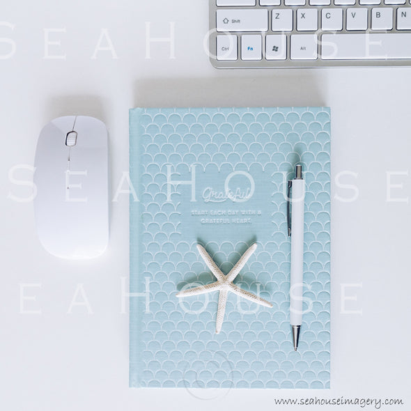 WM Styled Desktop Modern blue and White Grateful 1888 18 Square