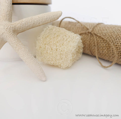 WM White Starfish Sponge Hessian SOFT 7850 Square Size