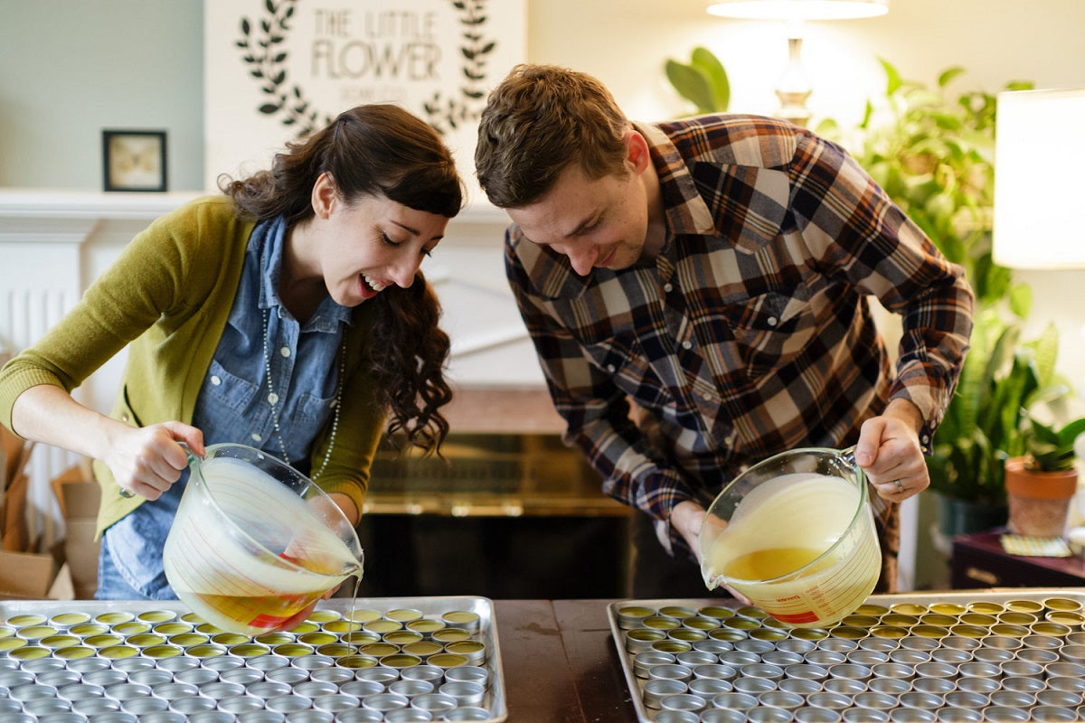 Holly & Justin Rutt of The Little Flower Soap Co.