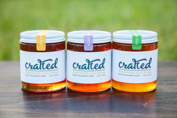 Blackberry, Tulip Poplar, Wildflower Three Pack by Crafted Honey