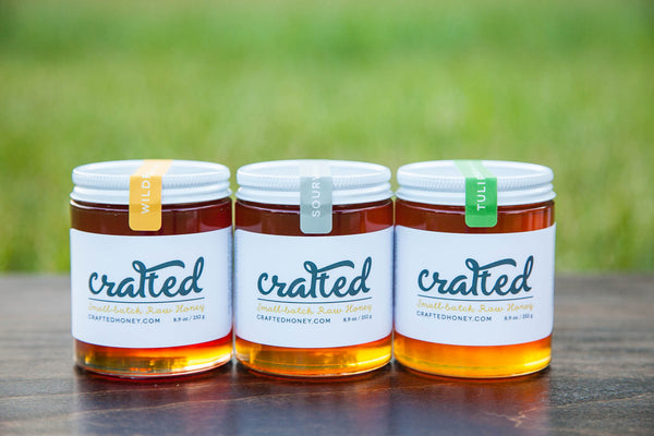 Sourwood, Tulip Poplar, Wildflower Three Pack by Crafted Honey