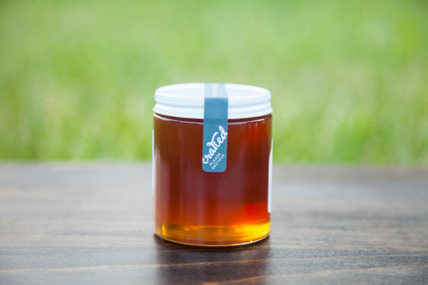 8.9oz Uncapped Raw Honey | Crafted Honey