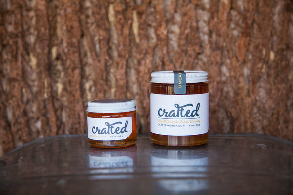 8.9oz & 3oz Uncapped Raw Honey | Crafted Honey