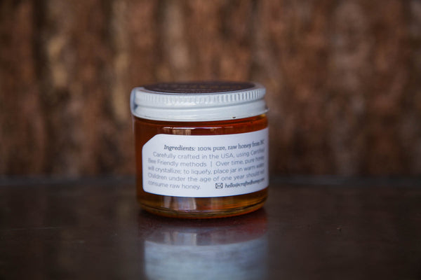 3oz Uncapped Raw Honey | Crafted Honey