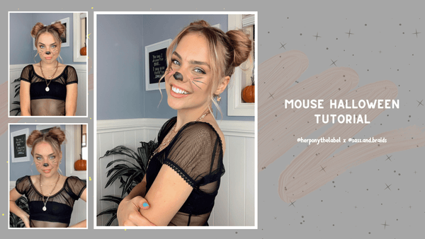 Mouse Halloween Tutorial with Our Honey @sass.and.braids | Her Pony | Look III