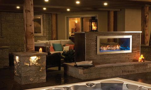 Napoleon Galaxy See Thru Gas Fireplace - GSS48ST - Chimney Cricket