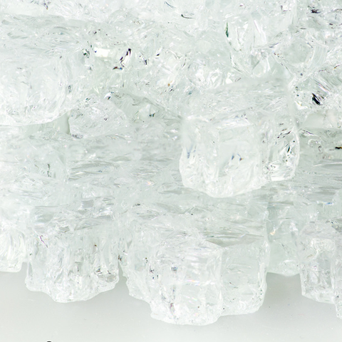 "1/2"" Crystal Ice Fire Glass - 10 lbs. - Chimney Cricket"