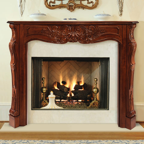 Mantel - 134 Deauville - Fruitwood Finish (48-30) - Chimney Cricket