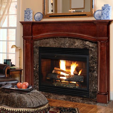 "Mantels - 159 Princeton - Distressed Cherry (48""-70"") - Chimney Cricket"